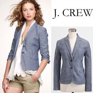 J. Crew Chambray Denim Blazer Jacket